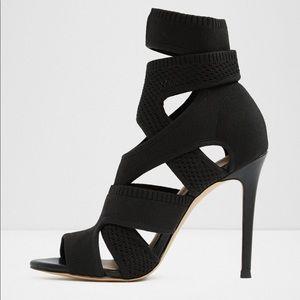 Aldo stretchy fabric high heels